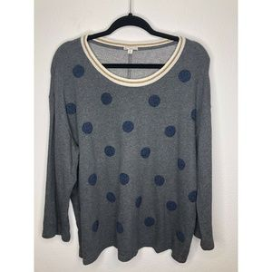 Gap Womens Sweater Pullover Polka Dots X-Large